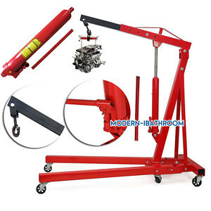 Uk Folding Hydraulic Shop Engine Crane Hoist Lift Stand