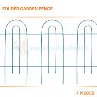 Green Garden Folding Border Fence Round Landscaping Flower Plant Tree Lawn Patio
