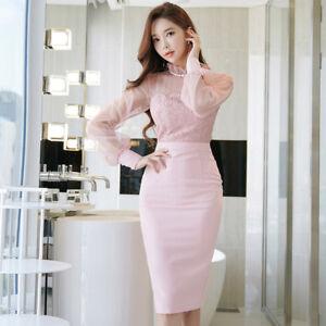 dd9f51845dcd Caricamento dell immagine in corso vestito-corto-abito-tubino-elegante-rosa- cipria-morbido-