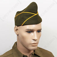 Ww2 Us Issue Type Garrison Cap - Cavalry - Repro Military Army Usa American Hat