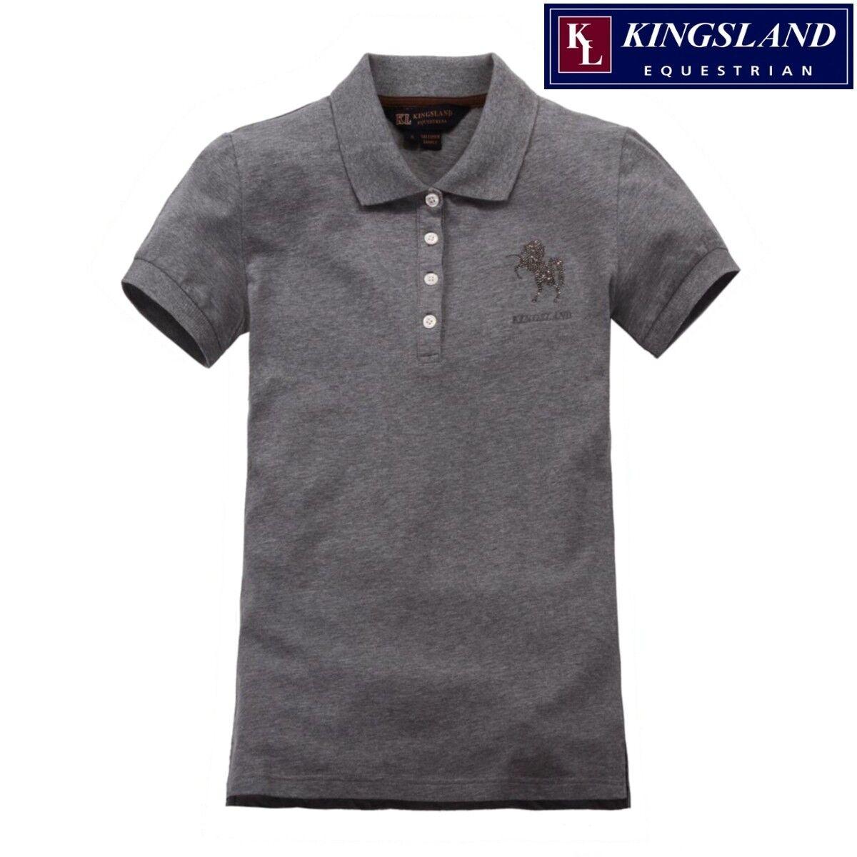 Kingsland Wembley Ladies Polo Shirt Horse Motif Was  NEW