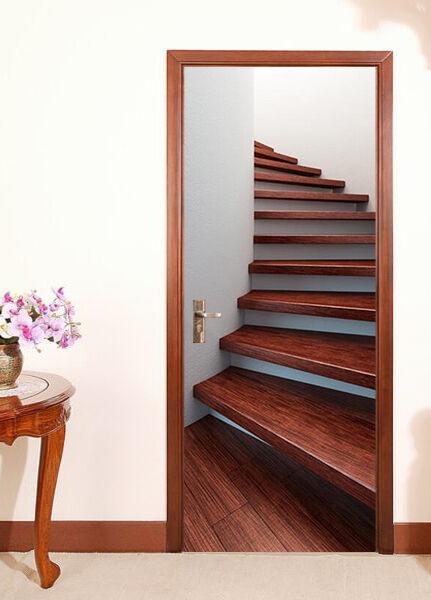 3D Treppen 7 Tür Wandmalerei Wandaufkleber Aufkleber AJ WALLPAPER DE Kyra | Gemäßigten Kosten  | Qualitätskönigin  | Verpackungsvielfalt