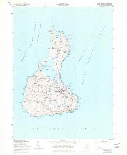 Block Island Historical Map 1957