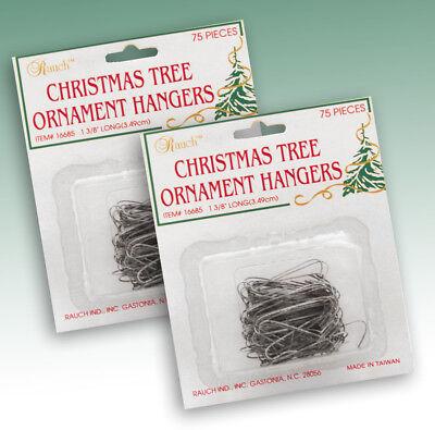 "Silver 1-3//8/"" 2 Packs of 75 150 Rauch CHRISTMAS TREE Ornament HANGERS Hooks"