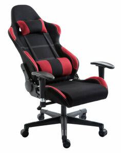 Enjoyable Details About Eg Premium Chair Red And Black Fabric Creativecarmelina Interior Chair Design Creativecarmelinacom