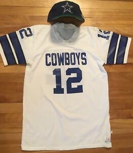 new style 893df 38f0d Details about Dallas Cowboys Vintage 70's Throwback Rober Staubach #12  Jersey W Vtg Snapback
