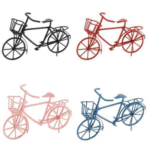 Vintage schwarz Fahrrad Miniatur Fahrrad Modell Puppenhaus Lebensszenen
