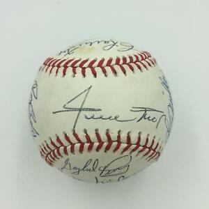San-Francisco-Giants-HOF-amp-Legends-Signed-Baseball-Willie-Mays-Mccovey-PSA-DNA
