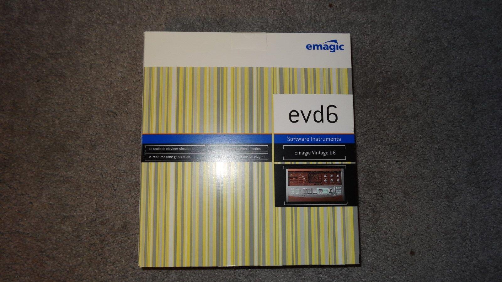 EMAGIC LOGIC 5 EVD6 SOFTWARE INSTRUMENT EMAGIC VINTAGE D6 WIN   MAC