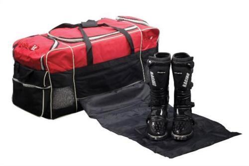Race Rally Motorcycle MX Kart Kit Bag Travel Bag Hold All In Black Red 130 Litre