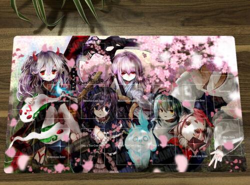 Playmat Ghost Reaper Anime Girls TCG CCG Mat Yugioh Card Game Mat Yu-Gi-Oh