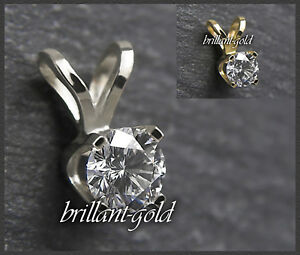 Diamant-Anhaenger-Damen-585-Gold-Brillant-0-10-0-25ct-Top-Wesselton-VS-Si-NEU