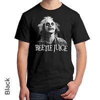 Beetlejuice Graphic T-shirt Black & White 80s Tim Burton Michael Keaton 287