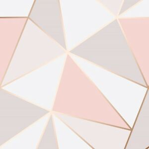 Image Is Loading Pink And Rose Gold Wallpaper Geometric Pattern Apex