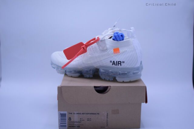 the latest acbb1 bb4f7 2018 Off White AA3831-100 Nike Air Vapormax x Off White Men's shoes Sz 6 us