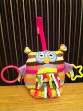 "Jellycat little Owl Hoot plush rattles plush, soft toy 7"" VGC"