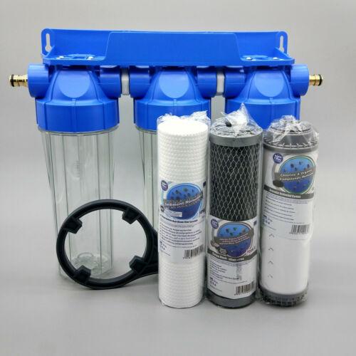 3 Étape Mélange bitumineux Chaud Haut Débit Filtre à eau Filtre Koi Étang Dechlorinator chlore Removal