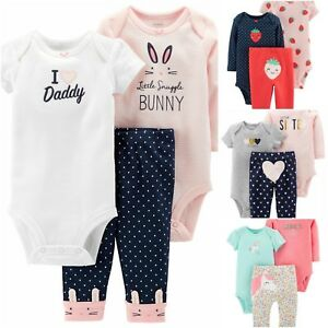 31080700a045 NEW Carter s 3-Piece Baby Girl Bodysuit   Pant Set (Multiple Design ...