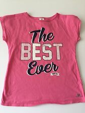 Domyos, 10 yr girl t-shirt pink 'THE BEST EVER' Logo,sports