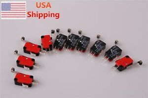 10pcs-V-156-1C25-MICRO-SWITCH-SPDT-HINGE-ROLLER-LEVER-15A-DC-AC