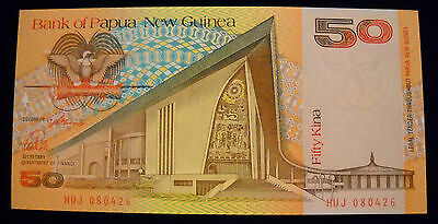 1989 50 Kina P-11 UNC /> Scarce First Papua New Guinea ND