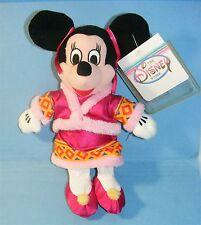 "DISNEY Plush CHINESE COSTUME MINNNIE Bean Bag 8"" Plush The Disney Store Tag MWT"