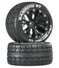 NEW Duratrax Bandito ST 2.8 2WD Mounted Rear Tires / Wheels C2 Black (2) DTXC...