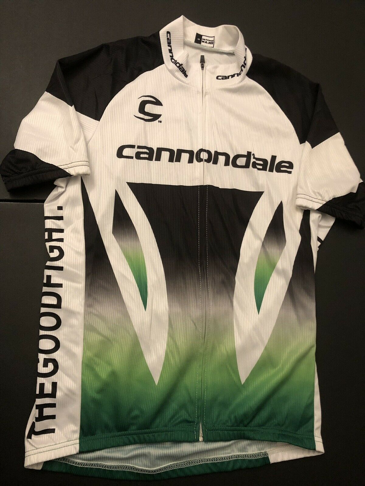 "Canondale Cycling ""The Good Fight"" Zipper Jersey Shortsleeve Men Size Medium New"