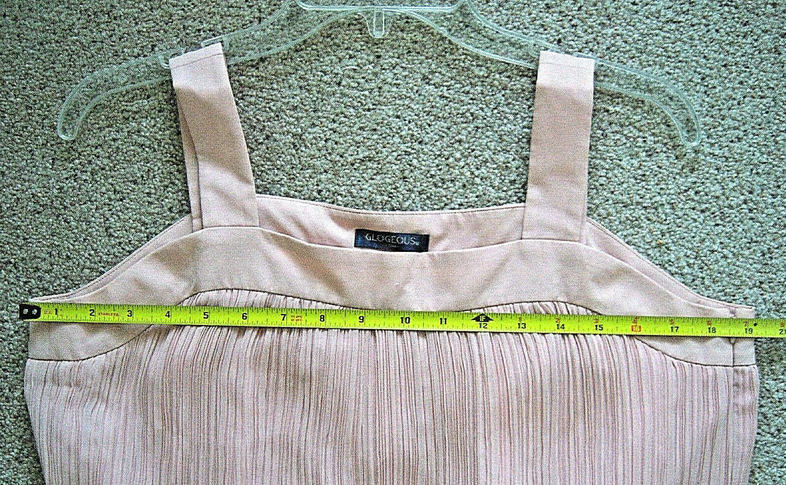 Women's fancy chiffon dress size L dusty rose pink - image 8