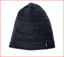 57e9c219188f5 Heat Last LINED Reversible SKULL HAT - Knit Beanie Cap - OSFA Black Gray  🌟NEW