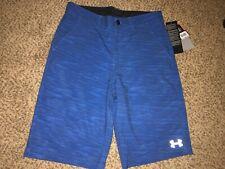bnwt Boys under armour lined swim shorts large-yxl-green camo upf50+ size x