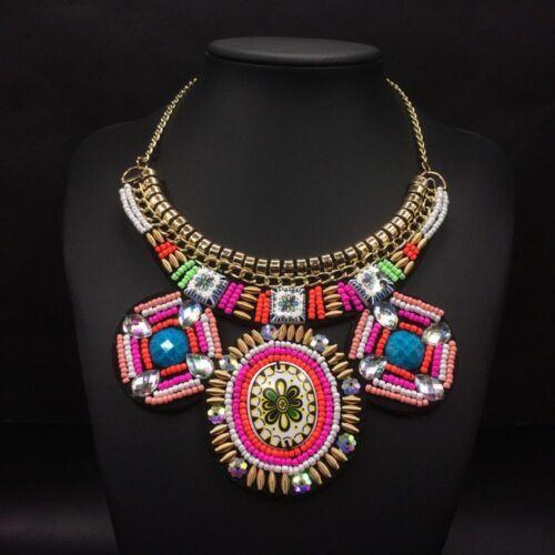Women Choker Boho Statement Necklace Fashion Pendants Jewelry Necklaces Beads