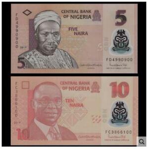 Nigeria-Banknote-5-amp-10-Naira-Polymer-UNC-5-amp-10