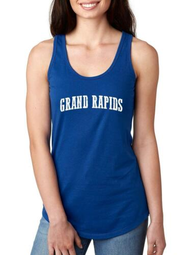 Grand Rapids MI Michigan Map Detroit Flag Wolverines Home of Racerback Tank