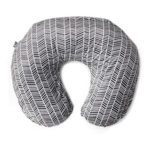 Kids N Such Nursing Pillow Cover Gray White Herringbone Print-Boppy slipcover