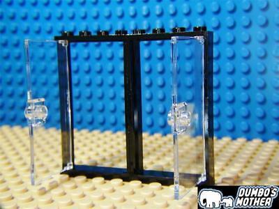 Red Door Frames 1x4x6 with Clear Door /& Door Knob House Home NEW LEGO 2