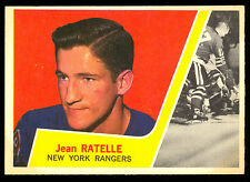 1963 64 TOPPS HOCKEY #63 JEAN RATELLE EX-NM NEW YORK N Y RANGERS FREE SHIP USA