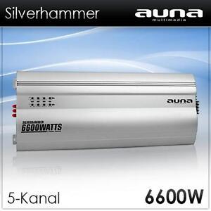 Mehrkanal Auto Endstufe 5-kanal Car HIFI Verstärker Alu Silber 6600w Bass Boost