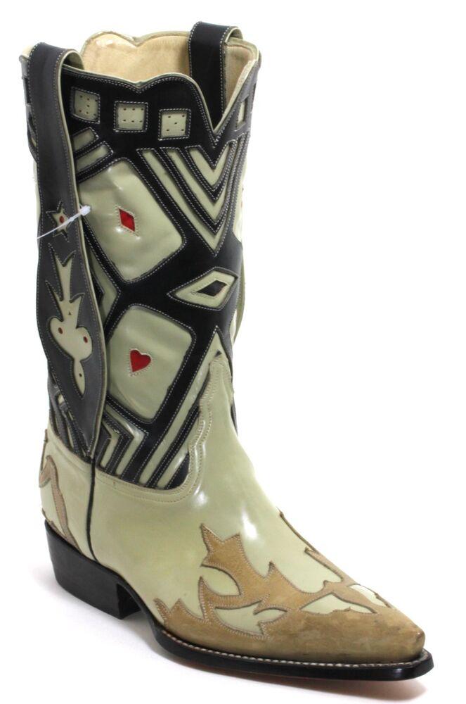 104 Bottes De Cowboy Western Texas Catalan Style En Cuir El Canelo 42