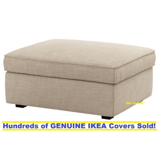 Ikea Kivik Footstool Ottoman Cover Slipcover Hillared Beige New Sealed