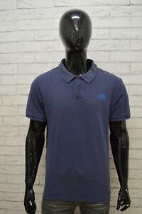 THE-NORTH-FACE-Polo-Maglia-Uomo-Taglia-XL-Maglietta-Shirt-Herrenhemd-Cotone-Blu