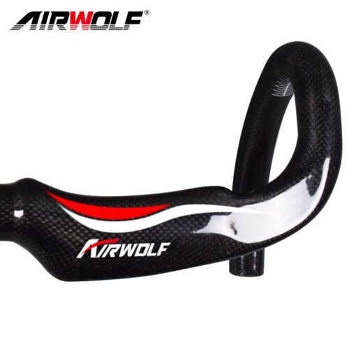 Airwolf carbon road bike handlbar racing bicycle bend bar 31.8*400//420//440mm 3K