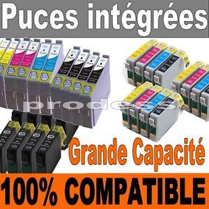 Lot-de-cartouches-d-039-encre-epson-non-oem-T0807-T0715-T1285-T1295-T1816-18XL