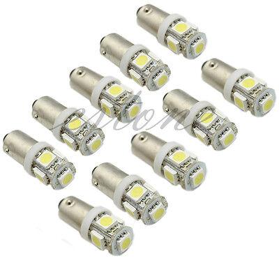 10x T11 5050 SMD BA9S 5 LED White Car Wedge Side Light Bulb Lamp 12V