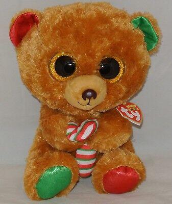 "TY Beanie Boos 9/"" MEDIUM Stuffed Plush BELLA Bear w// Heart Tags Christmas 2017"