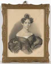 """Conrad L'Allemand (1809-1880) """"Portrait of a lady"""", drawing, 1833"""