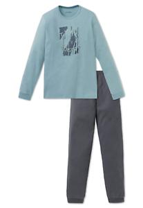 SCHIESSER Jungen Pyjama Schlafanzug lang XS S M L 140-176 100/% CO Nachtwäsche