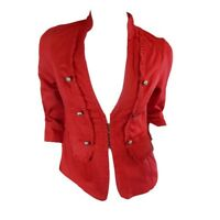 NEW LADIES CROSSROADS RED MILITARY JACKET SIZE 8,12 RRP $59.99