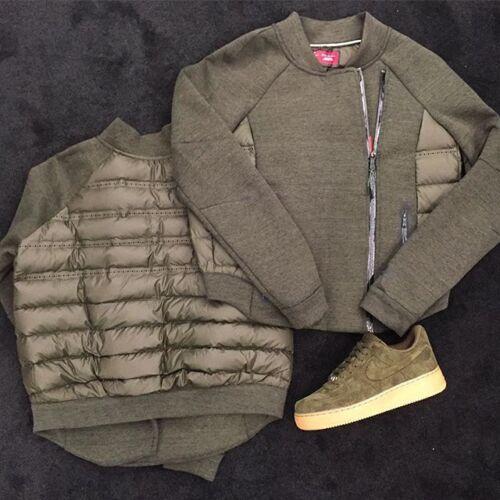 Nike Giacca 683938 325 Fleece Aeroloft taglia Cachi Tech Moto da M donna qqwE1O4H