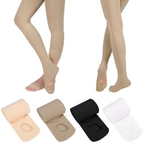 Girls Dance Tights Ballet Stockings Convertible Transition Footed Footless